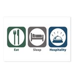 Eat Sleep Hospitality Postcards (Package of 8)