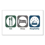 Eat Sleep Hospitality Rectangle Sticker 50 pk)