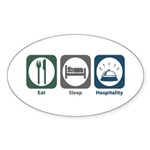 Eat Sleep Hospitality Oval Sticker (10 pk)