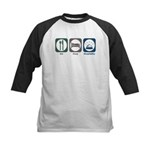 Eat Sleep Hospitality Kids Baseball Jersey