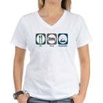 Eat Sleep Hospitality Women's V-Neck T-Shirt