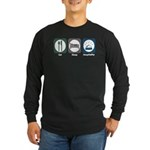 Eat Sleep Hospitality Long Sleeve Dark T-Shirt