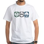 Eat Sleep Hospitality White T-Shirt