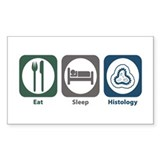 Eat Sleep Histology Rectangle Sticker 10 pk)