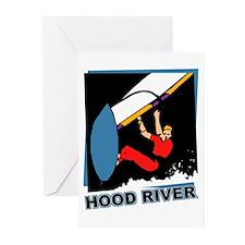 Hood River Windsurfing T-shir Greeting Cards (Pk o