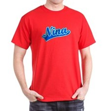 Retro Nina (Blue) T-Shirt