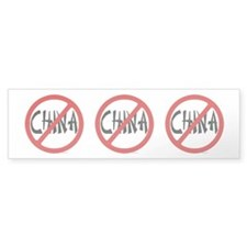 No China Bumper Sticker (50 pk)