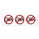 No China Bumper Bumper Sticker