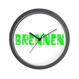Brennen Faded (Green) Wall Clock