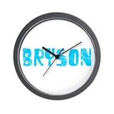 Bryson Faded (Blue) Wall Clock