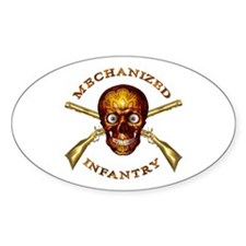 Mechanized Infantry Oval Decal