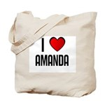 I LOVE AMANDA Tote Bag