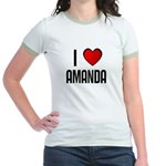 I LOVE AMANDA Jr. Ringer T-Shirt
