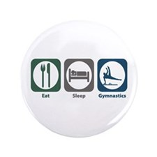 "Eat Sleep Gymnastics 3.5"" Button (100 pack)"