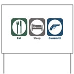 Eat Sleep Gunsmith Yard Sign