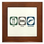 Eat Sleep Gunsmith Framed Tile