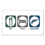 Eat Sleep Gunsmith Rectangle Sticker