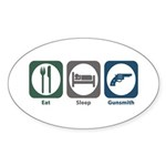 Eat Sleep Gunsmith Oval Sticker (10 pk)