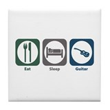 Eat Sleep Guitar Tile Coaster