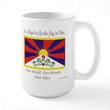 Tibetan Flag Large Mug