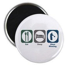 "Eat Sleep Glass Blowing 2.25"" Magnet (10 pack"