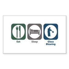 Eat Sleep Glass Blowing Rectangle Decal