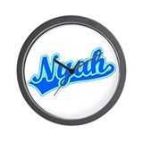 Retro Nyah (Blue) Wall Clock