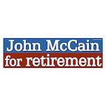 John McCain for Retirement bumper sticker