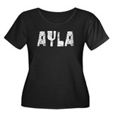 Ayla Faded (Silver) Women's Plus Size Scoop Neck D