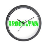 Brooklynn Faded (Green) Wall Clock