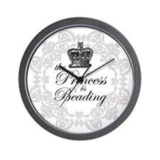 The Princess Is Beading Wall Clock