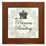 The Princess Is Beading Framed Tile