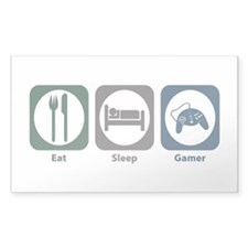 Eat Sleep Gamer Rectangle Sticker 50 pk)
