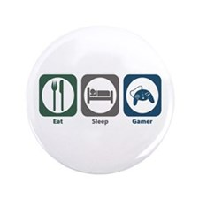"Eat Sleep Gamer 3.5"" Button (100 pack)"