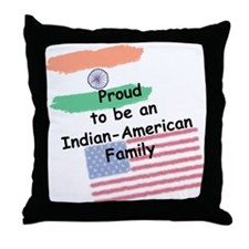 Indian-American Family Throw Pillow