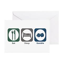 Eat Sleep Gamble Greeting Cards (Pk of 20)