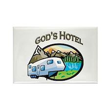 God's Hotel Rectangle Magnet