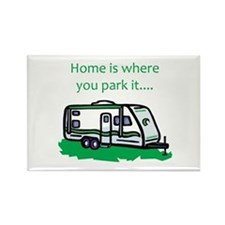 Home is where you park it Rectangle Magnet