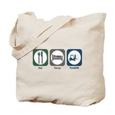 Eat Sleep Forklift Tote Bag