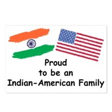 Indian-American Family Postcards (Package of 8)