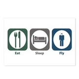 Eat Sleep Fly Postcards (Package of 8)