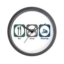 Eat Sleep Flooring Wall Clock