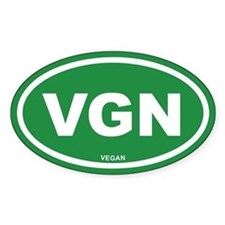 VGN Vegan Green Euro Oval Decal
