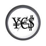 Yen Euro Dollar Wall Clock