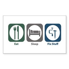 Eat Sleep Fix Stuff Rectangle Decal