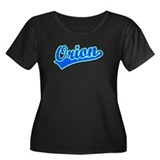 Retro Orion (Blue) Women's Plus Size Scoop Neck Da