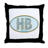 Fancy Blue HB Throw Pillow
