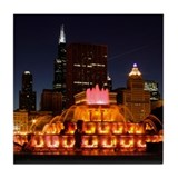 Buckingham Fountain Tile Coaster