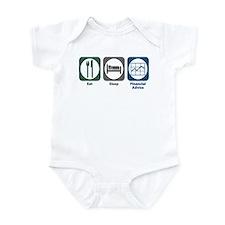 Eat Sleep Financial Advice Infant Bodysuit