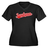 Retro Jaylynn (Red) Women's Plus Size V-Neck Dark